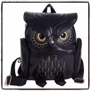 Night Owl Mini Backpack Purse Halloween Goth